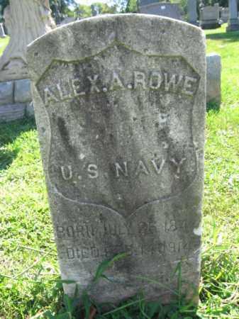 ROWE, ALEXANDER A. - Bergen County, New Jersey | ALEXANDER A. ROWE - New Jersey Gravestone Photos