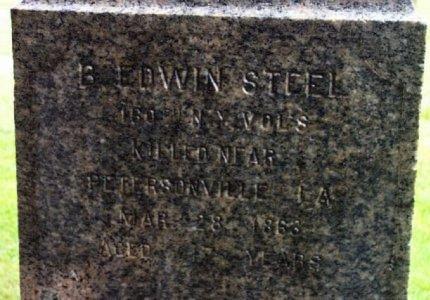STEEL (STELLE), BENJAMIN E DWIN - Bergen County, New Jersey | BENJAMIN E DWIN STEEL (STELLE) - New Jersey Gravestone Photos