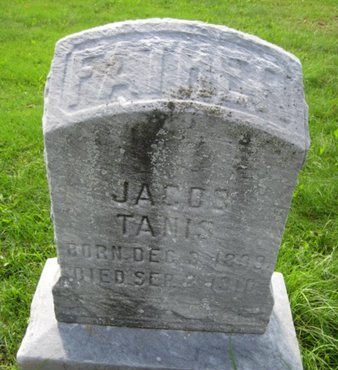 TANIS, JACOB - Bergen County, New Jersey   JACOB TANIS - New Jersey Gravestone Photos