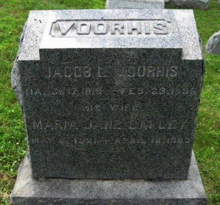 VOORHIS, JACOB L. - Bergen County, New Jersey | JACOB L. VOORHIS - New Jersey Gravestone Photos