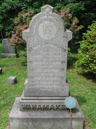 WANAMAKER (WANMAKER), HENRY A. - Bergen County, New Jersey   HENRY A. WANAMAKER (WANMAKER) - New Jersey Gravestone Photos