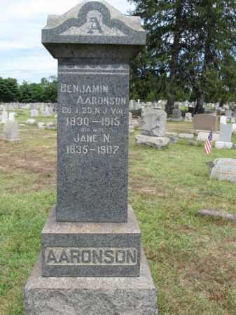 AARONSON, BENJAMIN - Burlington County, New Jersey   BENJAMIN AARONSON - New Jersey Gravestone Photos