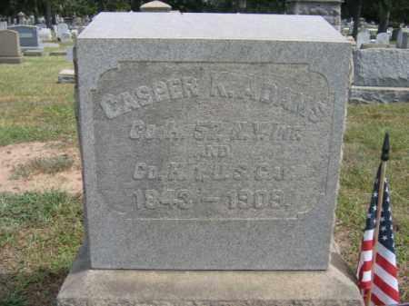 ADAMS, CASPER K. - Burlington County, New Jersey | CASPER K. ADAMS - New Jersey Gravestone Photos