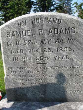 ADAMS, SAMUEL R. - Burlington County, New Jersey | SAMUEL R. ADAMS - New Jersey Gravestone Photos