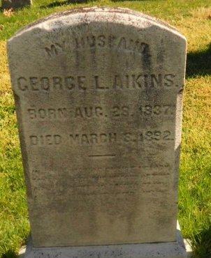 AIKINS, GEORGE L. - Burlington County, New Jersey | GEORGE L. AIKINS - New Jersey Gravestone Photos