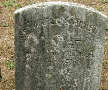 ALLEN, EDWARD N. - Burlington County, New Jersey | EDWARD N. ALLEN - New Jersey Gravestone Photos