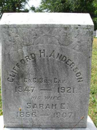 ANDERSON, CLIFFORD H. - Burlington County, New Jersey   CLIFFORD H. ANDERSON - New Jersey Gravestone Photos