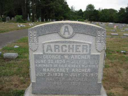 ARCHER, GEORGE W. - Burlington County, New Jersey | GEORGE W. ARCHER - New Jersey Gravestone Photos