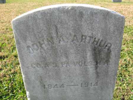 ARTHUR, JOHN ANDREW - Burlington County, New Jersey | JOHN ANDREW ARTHUR - New Jersey Gravestone Photos