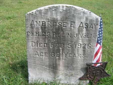 ASAY, AMBROSE E. - Burlington County, New Jersey | AMBROSE E. ASAY - New Jersey Gravestone Photos
