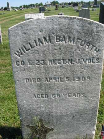 BAMFORTH, WILLIAM - Burlington County, New Jersey | WILLIAM BAMFORTH - New Jersey Gravestone Photos