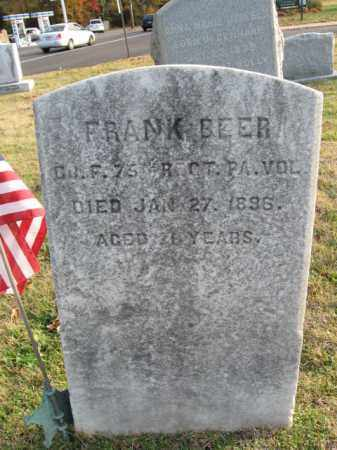 BEER, FRANK (FRANCIS) - Burlington County, New Jersey | FRANK (FRANCIS) BEER - New Jersey Gravestone Photos