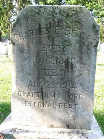 BENNEY, CHARLES E. - Burlington County, New Jersey   CHARLES E. BENNEY - New Jersey Gravestone Photos