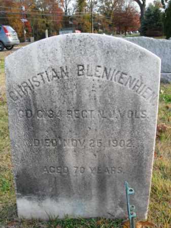 BLANKENHEIM, CHRISTIAN - Burlington County, New Jersey   CHRISTIAN BLANKENHEIM - New Jersey Gravestone Photos