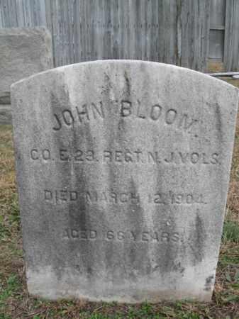 BLOOM, JOHN - Burlington County, New Jersey | JOHN BLOOM - New Jersey Gravestone Photos