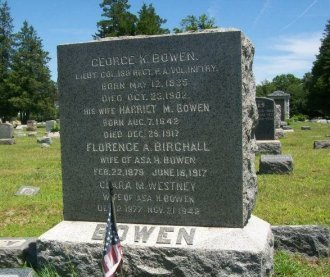 BOWEN, GEORGE K. - Burlington County, New Jersey   GEORGE K. BOWEN - New Jersey Gravestone Photos