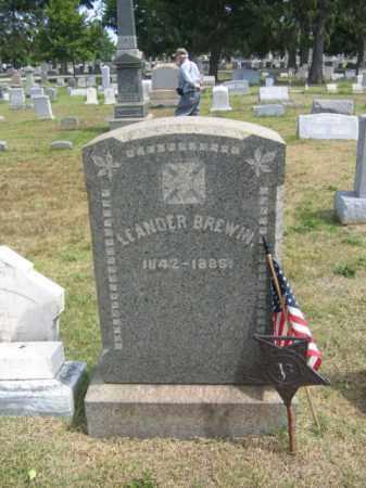 BREWIN, LT.LEANDER - Burlington County, New Jersey   LT.LEANDER BREWIN - New Jersey Gravestone Photos