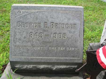 BRIDGER, PVT.GEORGE E. - Burlington County, New Jersey   PVT.GEORGE E. BRIDGER - New Jersey Gravestone Photos