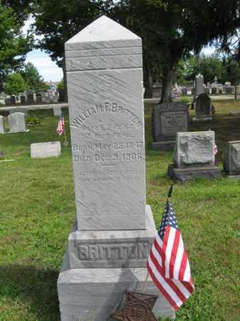 BRITTON, WILLIAM F. - Burlington County, New Jersey | WILLIAM F. BRITTON - New Jersey Gravestone Photos