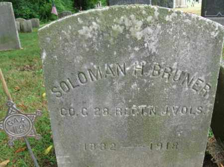 BRUNER, SOLOMAN H. - Burlington County, New Jersey | SOLOMAN H. BRUNER - New Jersey Gravestone Photos