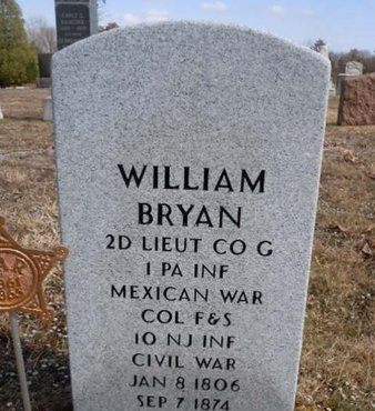BRYAN, WILLIAM - Burlington County, New Jersey | WILLIAM BRYAN - New Jersey Gravestone Photos