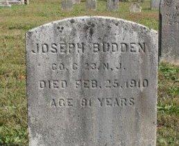 BUDDEN, JOSEPH - Burlington County, New Jersey | JOSEPH BUDDEN - New Jersey Gravestone Photos