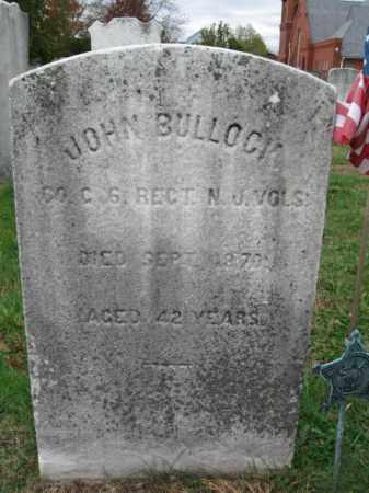BULLOCK, JOHN L. - Burlington County, New Jersey   JOHN L. BULLOCK - New Jersey Gravestone Photos