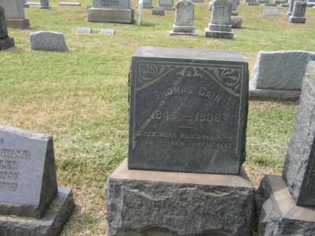 CAIN, THOMAS - Burlington County, New Jersey   THOMAS CAIN - New Jersey Gravestone Photos