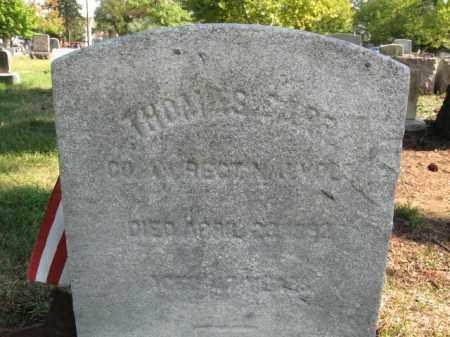 CARR, THOMAS - Burlington County, New Jersey | THOMAS CARR - New Jersey Gravestone Photos