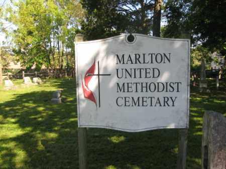 CEMETERY SIGN, MARLTON UNITED METHODIST - Burlington County, New Jersey | MARLTON UNITED METHODIST CEMETERY SIGN - New Jersey Gravestone Photos