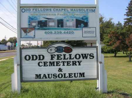 CEMETERY SIGN, ODD FELLOWS - Burlington County, New Jersey | ODD FELLOWS CEMETERY SIGN - New Jersey Gravestone Photos
