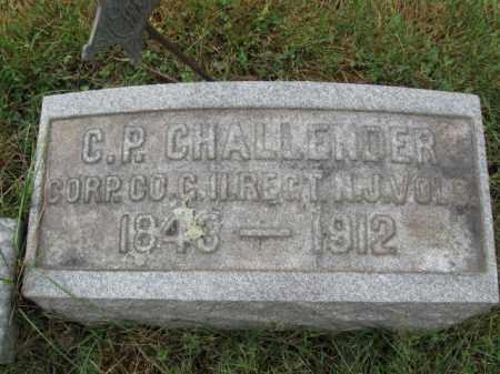 CHALLENDER, CORP.CHARLES P. - Burlington County, New Jersey | CORP.CHARLES P. CHALLENDER - New Jersey Gravestone Photos