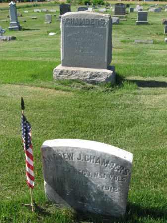 CHAMBERS, ANDREW J. - Burlington County, New Jersey | ANDREW J. CHAMBERS - New Jersey Gravestone Photos