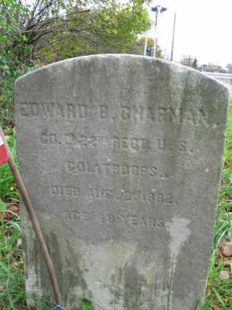 CHAPMAN, EDWARD B. - Burlington County, New Jersey | EDWARD B. CHAPMAN - New Jersey Gravestone Photos