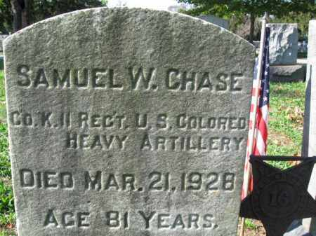 CHASE, SAMUEL W. - Burlington County, New Jersey | SAMUEL W. CHASE - New Jersey Gravestone Photos