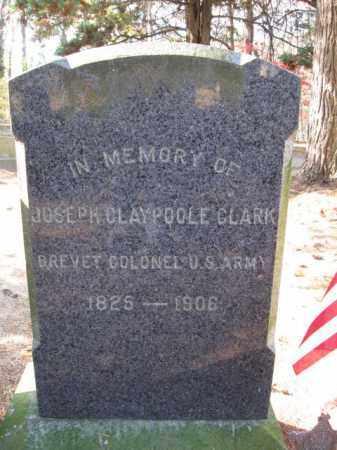 CLARK, JOSEPH CLAYPOOLE - Burlington County, New Jersey   JOSEPH CLAYPOOLE CLARK - New Jersey Gravestone Photos
