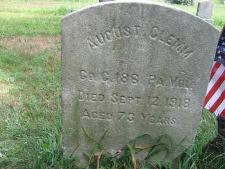 CLEMM, AUGUST - Burlington County, New Jersey | AUGUST CLEMM - New Jersey Gravestone Photos