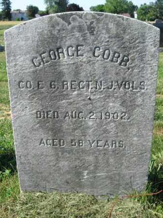 COBB, GEORGE - Burlington County, New Jersey | GEORGE COBB - New Jersey Gravestone Photos