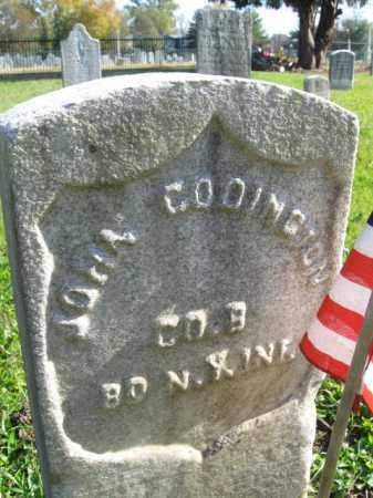CODINGTON (CODDINGTON), JOHN - Burlington County, New Jersey | JOHN CODINGTON (CODDINGTON) - New Jersey Gravestone Photos