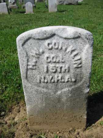 CONKLIN, HENRY W. - Burlington County, New Jersey   HENRY W. CONKLIN - New Jersey Gravestone Photos