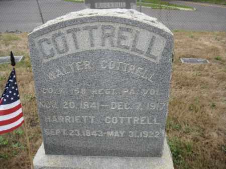 COTTRELL, WALTER - Burlington County, New Jersey | WALTER COTTRELL - New Jersey Gravestone Photos