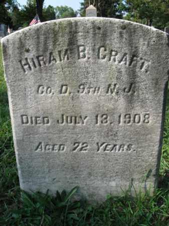 CRAFT, HIRAM B. - Burlington County, New Jersey | HIRAM B. CRAFT - New Jersey Gravestone Photos