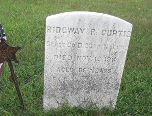 CURTIS, RIDGEWAY R. - Burlington County, New Jersey   RIDGEWAY R. CURTIS - New Jersey Gravestone Photos
