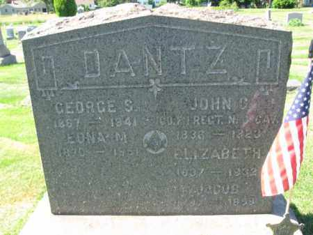 DANTZ, JOHN C. - Burlington County, New Jersey | JOHN C. DANTZ - New Jersey Gravestone Photos