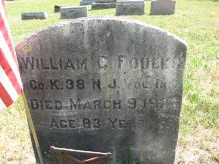 FOULKS, WILLIAM C. - Burlington County, New Jersey   WILLIAM C. FOULKS - New Jersey Gravestone Photos
