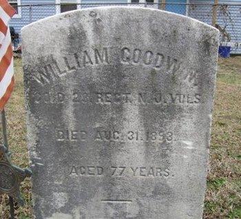GOODWIN, WILLIAM - Burlington County, New Jersey | WILLIAM GOODWIN - New Jersey Gravestone Photos