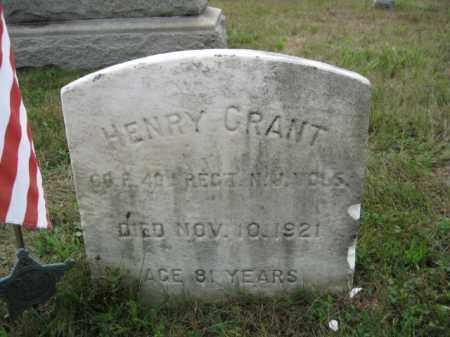 GRANT, HENRY - Burlington County, New Jersey | HENRY GRANT - New Jersey Gravestone Photos