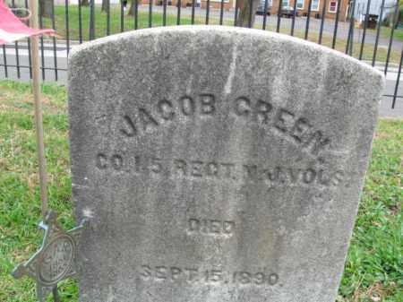 GREEN, JACOB - Burlington County, New Jersey | JACOB GREEN - New Jersey Gravestone Photos