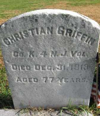 GRIFFIN, CHRISTIAN - Burlington County, New Jersey | CHRISTIAN GRIFFIN - New Jersey Gravestone Photos