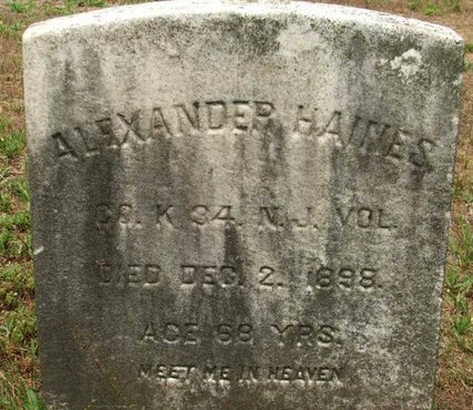 HAINES, ALEXANDER - Burlington County, New Jersey | ALEXANDER HAINES - New Jersey Gravestone Photos